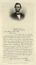 Civil War Reproduction: President Lincoln's letter to Mrs. Bixby: Fine Art Print