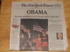 The New York Times COMPLETE NEWSPAPER  & NOT REPRINT President OBAMA NOV 5 2008