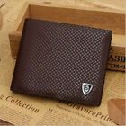 Leather Wallet Men brown Credit Card Holder Brand Purse Money Clip Wallets