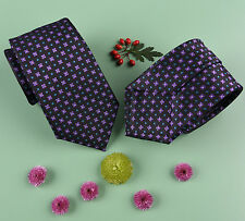 """Purple Floral Teal Coffee Bean Eclipse Mens 3"""" Modern Woven Tie from B2B Shirts"""