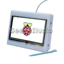 5 Inch 800x480 HDMI LCD Touch Screen with Acrylic Case for Raspberry Pi 3/2/B+