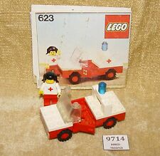 LEGO Sets: Classic Town: Hospital: 623-1 Medic's Car (1978) 100% w/ INSTRUCTIONS