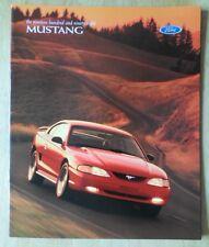Ford Mustang 1998 USA Mkt folleto de ventas-con Convertible GT
