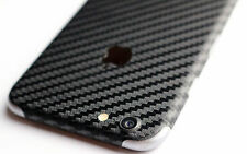 Carbon Folie Design Rückseite Schwarz für iPhone 6 6s  Apple Backcover Car Wrap