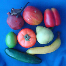 faux artificial fruit banana pear cucumber tomato bell pepper pomegranate mangoe