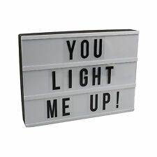 Cinematic Light Up Box Customise A4 Size Text Letter Box Message Board Decor