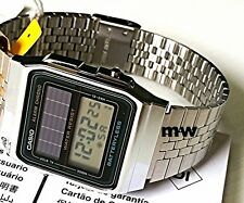 CASIO AL-180MVV-1UDG SOLAR BATTERYLESS ALARM-CHRONO DIGITAL UNISEX WATCH NEW