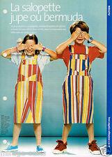 La Salopette Jupe ou Bermuda. AVANTAGES Juillet 2003. Vintage Neuf non découpé.