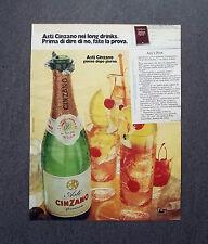 K395- Advertising Pubblicità -1975- ASTI CINZANO SPUMANTE