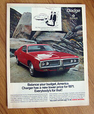 1971 Dodge Charger Ad  Drawing by Stan Hunt