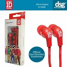 ONE DIRECTION OFFICIAL EAR HEADPHONES RED NEW UNUSED