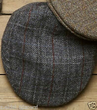 Flat Cap With Harris Tweed Wool Grey or Brown Size S/M  New (83)