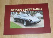 Datsun / Nissan 280ZX Targa Sports Car Brochure 280 ZX 1983