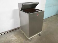 """A M F"" H D COMMERCIAL SS SPRING LOADED MOBILE SERVING TRAY DISPENSER/STATION"