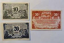 Notgeld / Gutschein Lambach - 1920 - 10 + 20 + 50 Heller  (B24