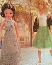 Dolls Clothes Big Night Out, ( Fashion dolls size Barbie etc)  Knitting Pattern