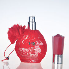 Red Lace Crystal Glass Perfume Spray Bottles Atomizer Refillable Empty Gift 60ml