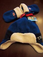 NWT THOMAS and FRIENDS 45th Anniversary Special TRAPPER HAT & MITTEN SET 1-2 yrs
