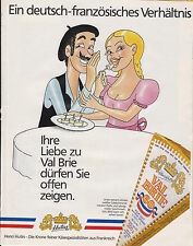 VAL BRIE - FROMAGE - PUBLICITE PRESSE  PAPER ADVERT 1988 ALLEMAGNE