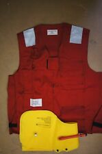 US NAVY LIFE PRESERVER MARK I RED VEST Without chamber EASTERN CANVAS Large