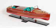 """Chris Craft Runabout Wood Model 32"""" Classic Speed Boat Painted New"""