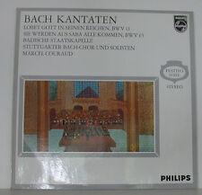 """BACH KANTATEN LOBET GOTT IN SEINEN REICHEN BWV 11 MARCEL COURAUD 12"""" LP (f561)"""