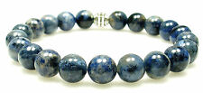 BRACELET - DUMORTIERITE 8mm Round Crystal Bead w/Description - Healing Stone