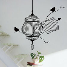 New Bird Cage Vine Wall Stickers Wall Decal Removable Kids Nursery Decor