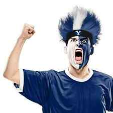 BYU Cougars Fuzz Head Wig NCAA College Sports Game Day Adult Costume Accessory