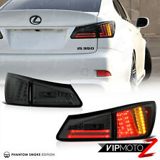 """SMOKE"" 2006 2007 2008 Lexus IS350 IS250 Rear Trunk LED Tail Lights Brake Lamps"