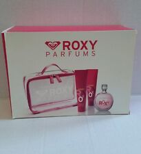Roxy Quicksilver 4 Pc Vanity Gift Set 3.3 oz Eau de Toilette Spray 5 oz Lot /Gel