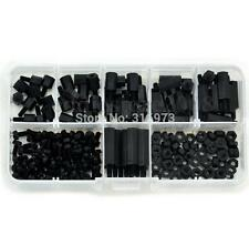 180 Pcs Black M3 Nylon Hex Spacers Screw Nut Stand-off Plastic Assortment Kit