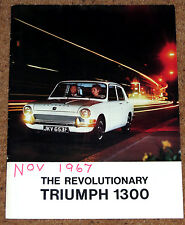 1967 Triumph 1300 & 1300 TC la brochure commerciale