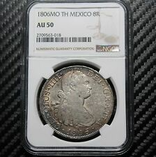 1806 MO TH Mexico 8 Reales NGC AU50 (63018)