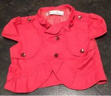 Evie Coral Cropped Jacket - Size S