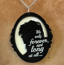'JARETH' (David Bowie) cameo style pendant with LABYRINTH quote Acrylic necklace