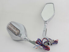 Scooter Mirrors Mobility Scooter 8MM Universal Mirrors with LED Left Right new