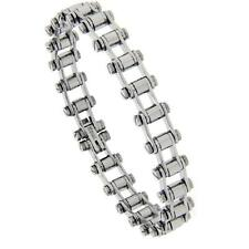 7.25 in. Stainless Steel Bicycle Chain Bracelet