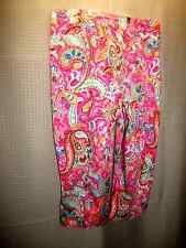 White Stag Stretch Multi color Paisley Capri's Women Size 12 ave. FREE Shipping