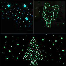 100pcs Home Wall Light Green Glow In The Dark Star Stickers Decal  For Bedroom