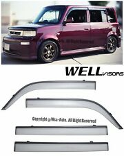 WellVisors Side Window Deflectors Visors with Black Trim For 04-07 Scion xB