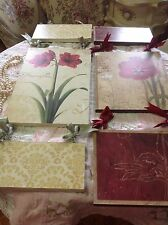 2 picture Rose French Shabby Country Cottage Chic - Wall Decor Sign