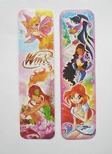 Winx Club 2pcs Cardboard Bookmarks 6.5'' lenght (16cm).