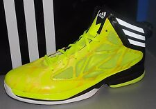 MENS ADIDAS CRAZY FAST in colors ELECTRIC YELLOW / RUNNING WHITE / BLACK SIZE 10
