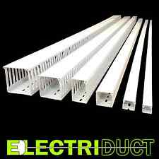 """3.15""""x3.15"""" Open Slot Wire Duct - 6 Sticks -Total Feet: 39FT- White -Electriduct"""