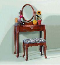 Oak Bedroom Vanity Set Bathroom Make Up Bath Makeup Dressing Table Stool Dresser