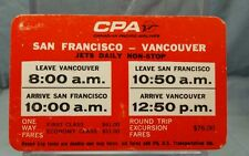 Vintage Advertising Pocket Wallet Calendar Card: 1968 CANADIAN PACIFIC AIRLINES
