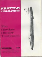 PROFILE PUBLICATIONS #167 HAWKER HUNTER TWO-SEATERS WWII MILITARY AIRPLANE PLANE