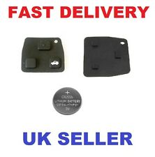 Toyota Avensis Corolla 2 / 3 rubber button  pad for remote key + Battery CR2016