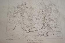 GRAVURE SUR CUIVRE NAPOLEON MORT DU GENERAL COLBERT 1822 TARDIEU SCHENETZ